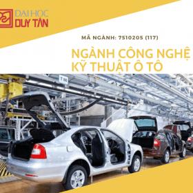 DTU - ngành Công nghệ Kỹ thuật Ô tô